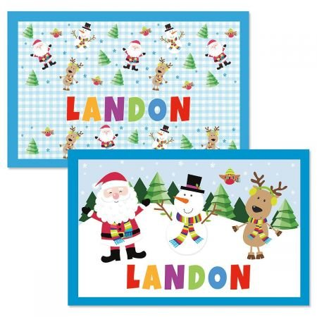 Lillian Vernon Personalized Kids Christmas Placemat - 11
