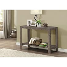 Monarch Specialties I 7915S Dark Taupe Reclaimed-Look Sofa Console Table