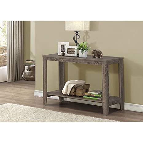new styles 6d2a0 e058a Monarch Specialties Dark Taupe Reclaimed-Look Sofa Console Table