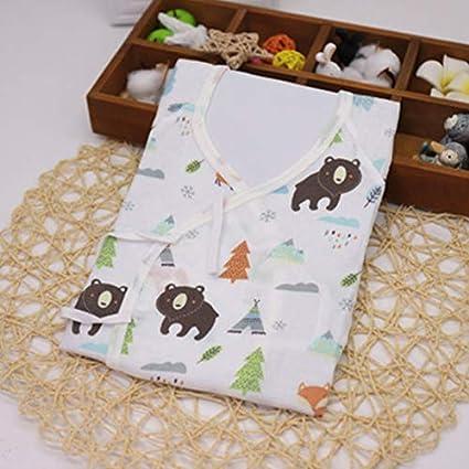 ICYCHEER 0–3 meses bebé recién nacido ropa japonesa Kimono Gown 100% algodón lindo