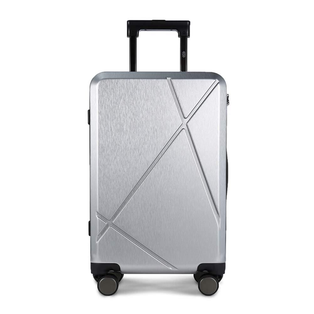 HEMFV クラシック20インチスーツケース、ユニセックスファッショントロリーケース、カジュアルビジネスボーディング (色 : シルバー しるば゜)  シルバー しるば゜ B07R6H3V38