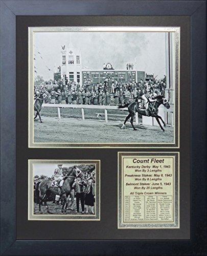 Legends Never Die Count Fleet 1943 Triple Crown Winner Collage Photo Frame, 11
