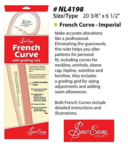 Sew Easy French Curve Dressmaking Ruler Imperial