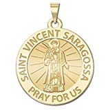 Saint Vincent of Saragossa - Available in Solid 14K Yellow or White Gold, or Sterling Silver