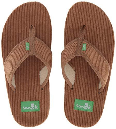 - Sanuk Women's Furreal Classic Cord Flip-Flop, tan, 09 M US