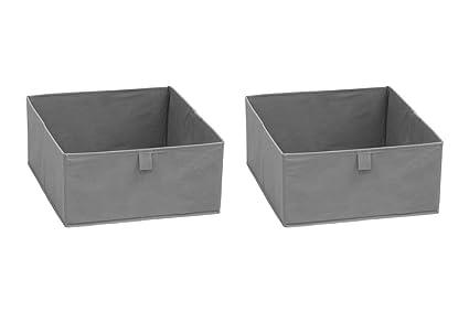 Inwona IKEA Kallax cajones/Cajas Plegables de Retención de Juego de 2 Bahías de Habitación