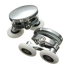 Bazaar 2Pcs 25mm Shower Door Rollers Zinc Alloy Bathroom Wheel Accessories Glass Hardware