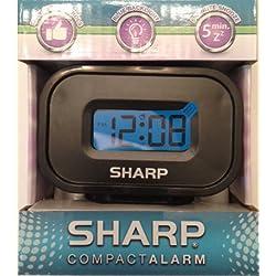 Sharp Compact Alarm Clock- SPC538A (Black)