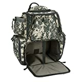 Piscifun Fishing Tackle Backpack Large Capacity Waterproof Fishing Tackle Bag with Protective Rain Cover Digital Camouflage