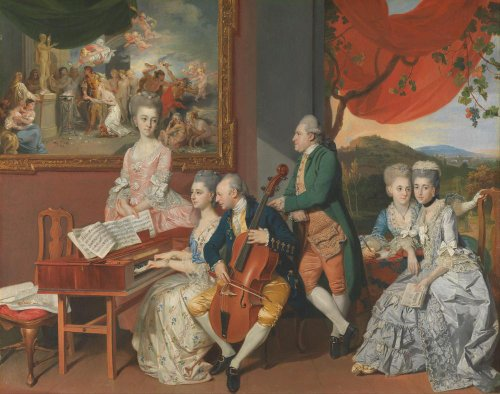 Definitive Art Poster - The Gore Family with George 3rd Earl Cowper by Johan Jos...