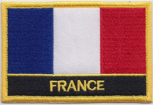 france country embroidered blazer badge