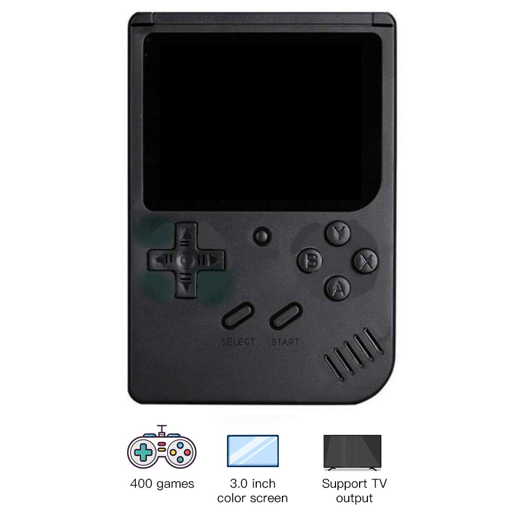 RoJuicy Mini Handheld Game Console, Retro FC Game Console, Video Game Console with 3 Inch Color Screen 400 Classic Games Support TV Video Game Player tick for Birthday Presents