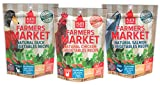 Plato Farmer's Market Grain Free Dog Treats Variety Pack – 3 Flavors (Chicken, Salmon, & Duck), 4-Ounce (3 Total Pouches)