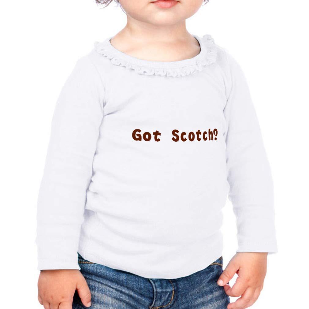 Cotton Girl Toddler Long Sleeve Ruffle Shirt Top Sunflower Got Scotch