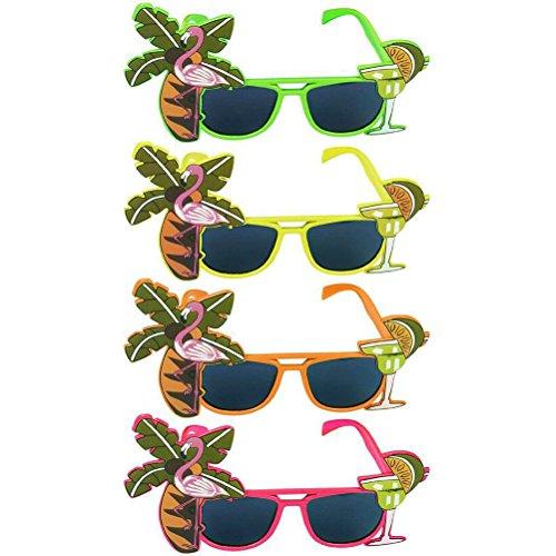 Tinksky 1pcs Hawaii Sunglasses Tree Decoration Sunglasses for Luau Summer Beach Party Suppliers (Random - Hawaii Sunglasses