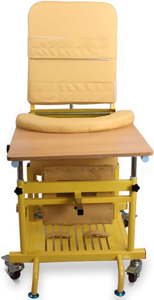 Walker Caminante estándar para niños, Silla de corrección de Asiento Ajustable Parálisis Cerebral Ejercicio de rehabilitación Infantil Caminante con Mesa de Comedor