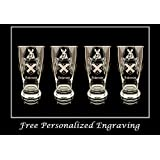 Anderson English Coat of Arms Pint Glass Set of 4 - Free Personalized Engraving and Free Shipping