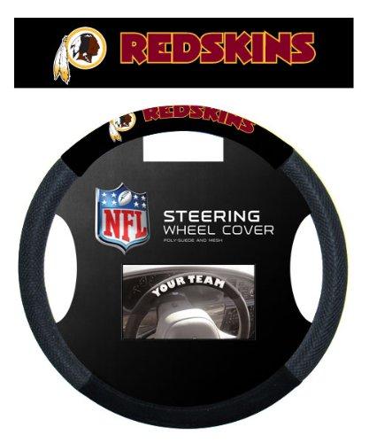 (Fremont Die NFL Washington Redskins Massage Grip Steering Wheel Cover, Black, One Size)