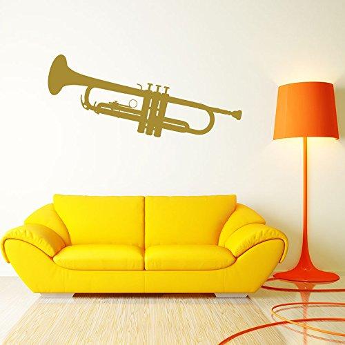 Wall Decals Wind Musical Instruments Trumpet Brass Band Art Music Studio Interior Vinyl Decal Sticker Home Décor Music School Bedroom Living Children