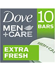Dove Men+Care  Body and Face Bar, Extra Fresh, 4 oz, 10 Bar