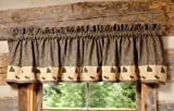Cheap Black Forest Decor Northern Moose Plaid Rustic Valance – Rustic Lighting