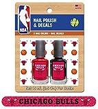 NBA Chicago Bulls Nail Polish with Decal and