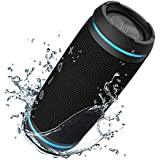 TREBLAB HD77 - Innovative Portable Bluetooth Speaker - True Wireless Stereo Tech & Ambient LED Lights, 360° Powerful Loud Sound 25W - 12H Play, Best Sports Workouts Outdoors, Water Resistance IPX6