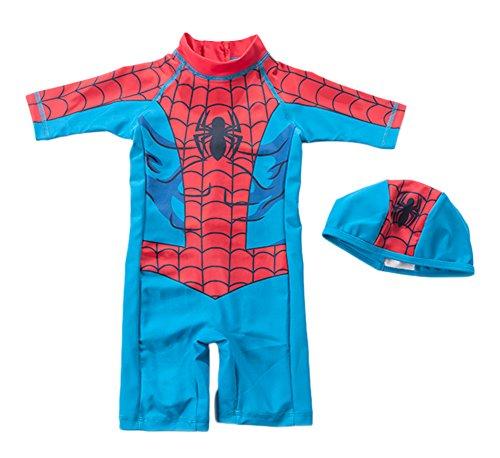 StylesILove Super Hero Spiderman 2-piece Boy Costume Swim Set (3T), Tag Size:100