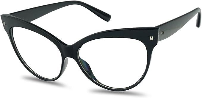 Womens Cat Eye Narrow Sunglasses Fashion Eyewear Small Mod Style Transparent