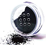 Pure Ziva Beautiful Onyx Black Loose Powder Mineral Glitter Eye Shadow Eyeshadow Dust Pigments, Single Jar Pot, Talc & Paraben Free, No Animal Testing & Cruelty Free