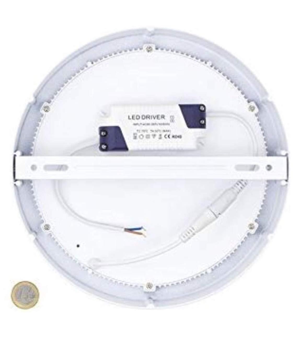 (LA) Pack Plafón Downlight LED Circular 18W superficie (Blanco frío, Pack 3): Amazon.es: Iluminación