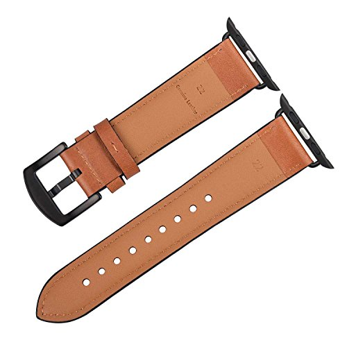 Watch band brown Leather Replacement Bands straps by Zeiger classic dress band For Apple watch series 1 2 3 42mm men women Mens Classics Series Watch