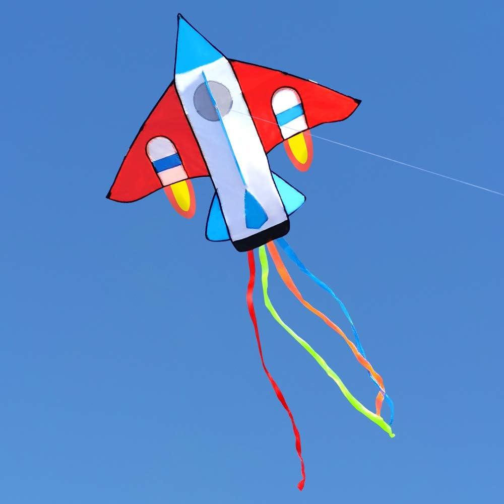 f/ácil de Volar la Cometa en Tres Dimensiones para ni/ños y Adultos Gran avi/ón de Combate de la Cometa Kite en 3D Avi/ón Actividades Kite-al Aire Libre