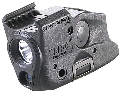 Streamlight TLR-6 Tactical Pistol Mount Flashlight 100 Lumen Only for Glock Railed Hand Guns, Black - 100 Lumens