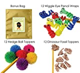 36 Piece Fidget Pencil Toppers Bundle Pack For Kids at Home or in School ...