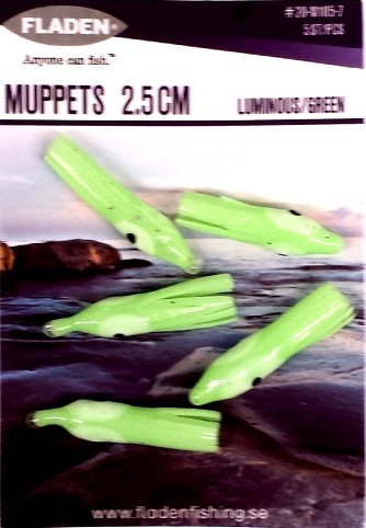 10 Luminous 2.5cm Soft Gel Octopus Micro Muppets. Ideal for sea / boat fishing Fladen