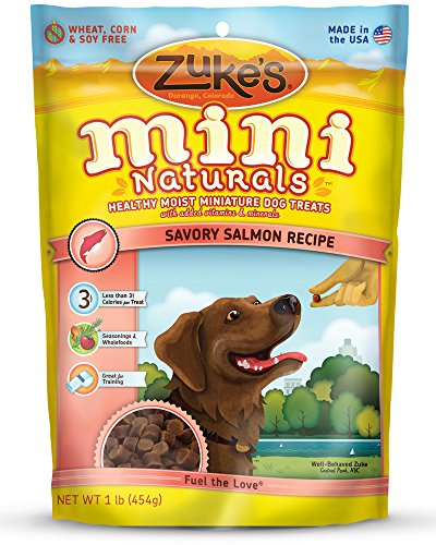Zuke s Mini Naturals Dog Treats, Savory Salmon Rec…