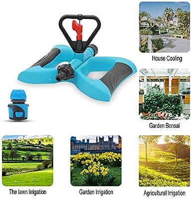 YD-outdoor Sistema de riego para césped y jardín, aspersor de Agua, rociador de Agua Giratorio Ajustable, móvil tándem de rotación de 360 °, para el Patio de los niños,5pcs: Amazon.es: Deportes y