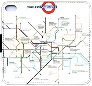 Wunatin Flip Case,London Tube Map iPhone 5/5S/SE Leather Wallet Case [with Free Touch Stylus Pen] BA-8775882