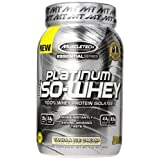 MuscleTech Platinum 100% ISO Whey Supplement, Vanilla Ice Cream, 1.76 Pound by MuscleTech