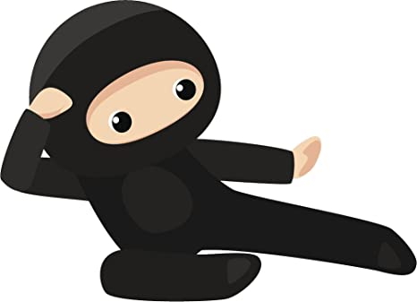 Amazon.com: Divine Designs Cool Kid Ninja Cartoon Icon Vinyl ...