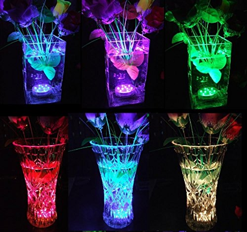 StillCool Submersible LED Lights, Waterproof Multi Color Underwater Lights Remote Battery Operated LED Decorative Lights Lighting Up Vase,Fish Tank,Wedding,Halloween,Christmas (12Pack) by StillCool (Image #3)
