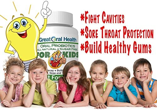 Children's Oral Probiotics ~ Dentist Formulated 30 Lozenge Bottle ~ Seven Strains with Blis K12 & M18 ~ Probiotics for Kids ~ Attack Bad Breath, Cavities and Gum Disease ~83 Page eBook Included!