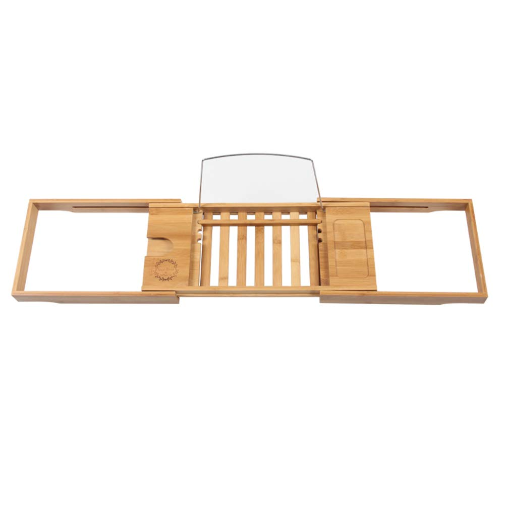 Bamboo Bathtub Caddy Tray,Natural,ecofriendly Wood Integrated Tablet Phone Wine Book Holders(Adjustable)-a 70x105cm(28x41inch)