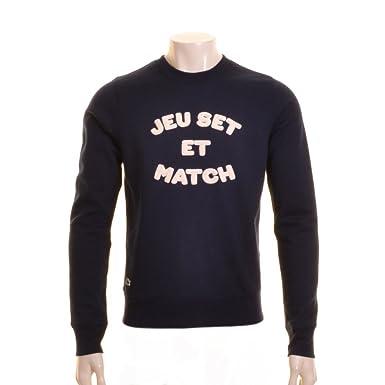 Lacoste Live Jeu Set Et Match Sweatshirt. Navy 6  Amazon.co.uk  Clothing 545bc0ec39