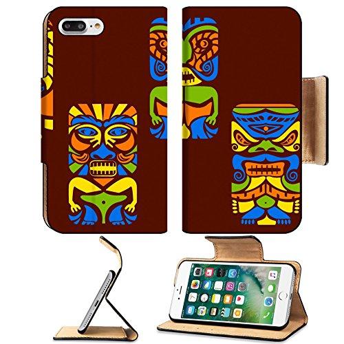Liili Premium Apple iPhone 7 Plus Flip Pu Leather Wallet Case iPhone7 Plus26174018 easy to edit vector illustration of tiki (Free Island Tiki Bar)