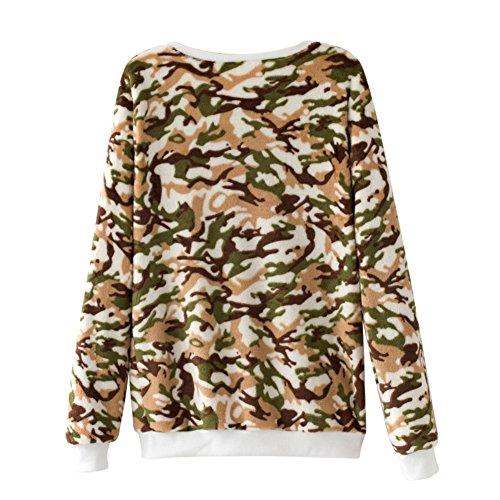 Allouli Mujeres sudadera con capucha Corallo Velluto imprimir sudaderas con capucha primavera oto?o manga larga casual sudaderas Color15