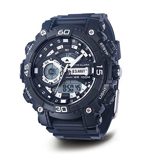 (Men's U.S. Navy 37400033 C40 Analog-Digital Multifunction Quartz Watch by Wrist Armor)
