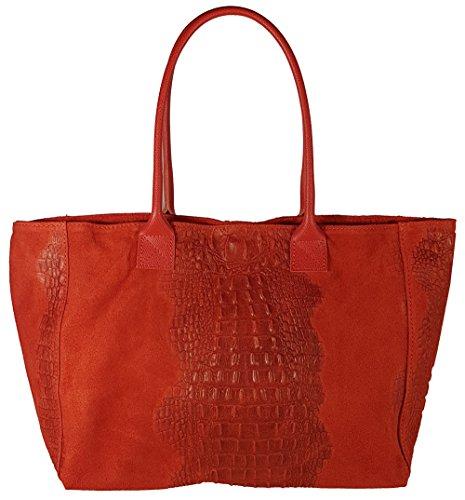 Bag Red Top Handle Women's Crocodile Freyday zq4tZ