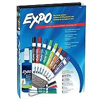 EXPO 80054 Marcadores de borrado en seco de bajo olor, punta de cincel, colores surtidos, juego de 15 piezas